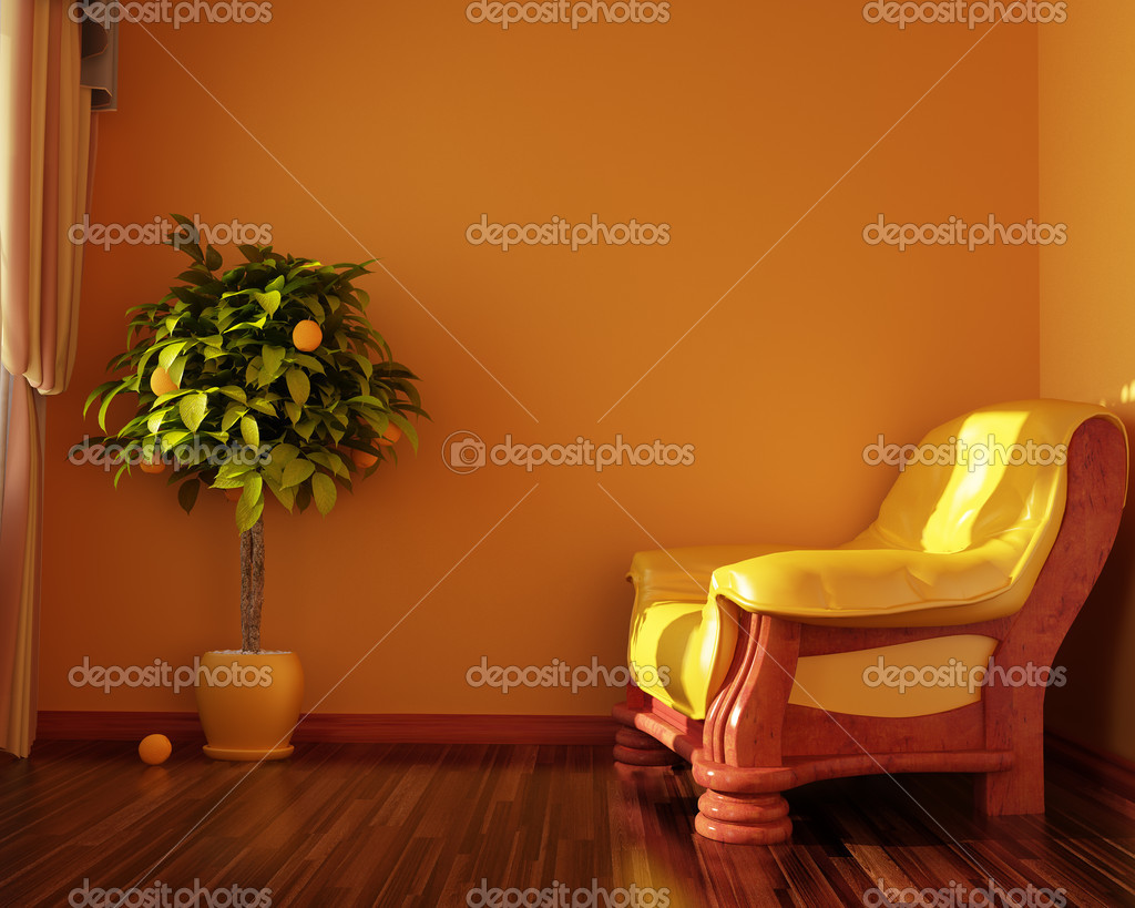 Interior convenient room (3d rendering )  Stock Photo #3412066