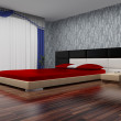 Modern interior of a bedroom. — Stock Photo