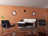 New interior of a room — Stock Photo
