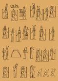 Jeroglíficos egipcios antiguos — Vector de stock