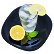 Glass of water with a lemon 2 — Stock Photo #3343007