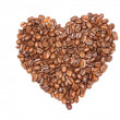 Heart of coffee beans — Stock Photo
