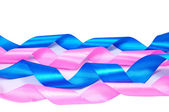 Pink and blue ribbons — Stock Photo