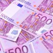 Background of euro banknotes — Stock Photo