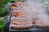 Barbecue in rook — Stockfoto
