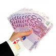 Hand with money and as — Stock Photo #3505238