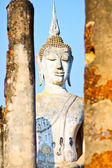 Buddha behide Pillar — Stock Photo