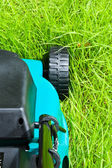 Lawn mover (backside, uncut) — Stock Photo
