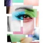 美しい女性の顔の半分 — ストック写真 #3314273