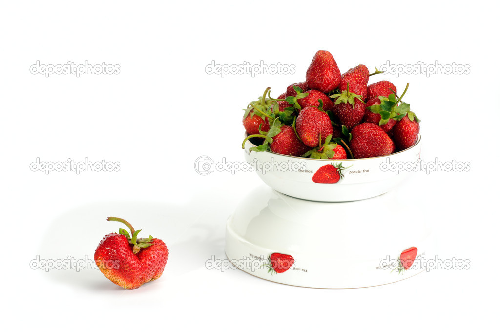Strawberry оn white — Stock Photo #3326613