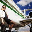 AirGirl — Stock Photo