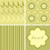 Different background with floral elements in the beige range — Stock Vector