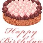 Chocolate cake — Stock Vector #3477946