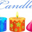 Festive Candles - Stock Vector