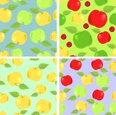 Wallpaper with colorful apples — Stock Vector