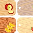 Chopping boards from different wood — Stock Vector