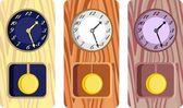 Antique clocks — Stock Vector