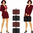 Royalty-Free Stock Vector Image: Businesswoman