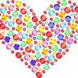 Royalty-Free Stock Imagen vectorial: Heart of semiprecious stones