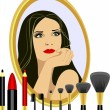 Set for makeup — Stock Vector