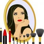 Set for makeup — Stock Vector