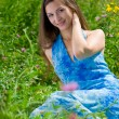 Beautiful woman in a countryside — Stock Photo