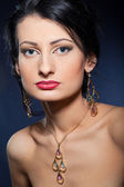 Portrait of elegant beautiful woman — Stockfoto