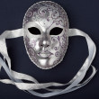 Silver mask — Stock Photo