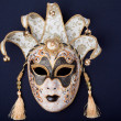 Black and gold mask - Stock Photo