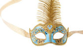 Blue and gold carnival mask — Стоковое фото