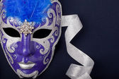 Blue and silver mask — Stock Photo