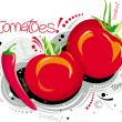 Red tomatoes — Stock Vector #3266488