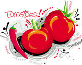Tomates rouges — Vecteur