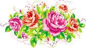 Roses vintage — Vecteur