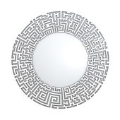 White radial maze without solution. Three-dimensional, isolated on white — Stock Photo