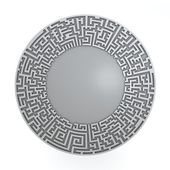 Grey radial maze without solution. Three-dimensional, isolated on white — Stock Photo