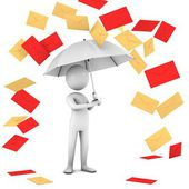 Rain Of Mail. — Stock Photo