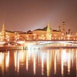 kremlin de Moscou dans la nuit — Photo