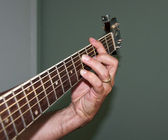 G7 Chord on Acoustic Guitar — Stock Photo