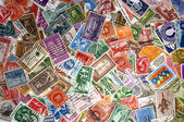 Pile of US Postage Stamps — Stock Photo