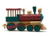 Motore in legno treno giocattolo — Foto Stock