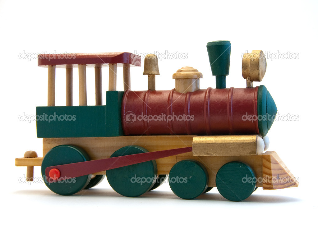 Toy Wooden train Engine — Stock Photo © jpainting #3852070