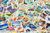 Collection of stamps — Stock Photo