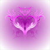 Heart pink white — Stock Vector