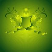Escudo ornamental — Vector de stock