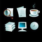 Set office — Stock Vector