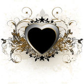 Heart decorative — Stock Vector