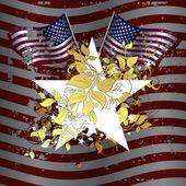 華やかなアメリカ — ストックベクタ
