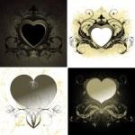 Ornate hearts — Stock Vector