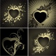 Ornate hearts — Stock Vector